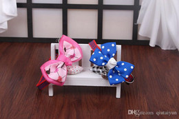 Wholesale Wholesale Dog Bows Solid Colors - 2015 New Style Adjustable Pet Dog Cat Bow Tie dog collars and leashes Brand New Mix Colors 1000pcs Size S M dog collars jewelry B100