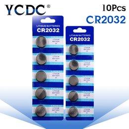 Wholesale 14 Lithium Battery - 2024 Cheap 10PCS Batterie CR2032 batteries 2032 3V Lithium Type Button Coin Cell Watch Battery 5004LC ECR2032 DL2032 KCR2032 14#