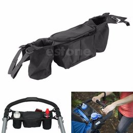 Wholesale Twin Babies Buggies - Free Shipping Cup bag Baby Stroller Organizer Baby Carriage Pram By Cart Bottle Bags order<$18no track