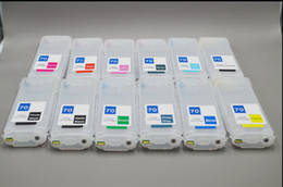 Wholesale Wholesale Hp Cartridges - 130ml 12 color-set,Empty DIY refillable ink cartridge with auto reset chips for HP designjet Z3200 printer