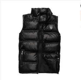 Wholesale New Fashion Waistcoat - Wholesale- New Arrival Placket Sping Zipper&Snap Man Casual Vest Plus Size Brand Pocket Design Mandarin Collar Men Warm Waistcoat MC6608