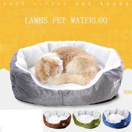 Wholesale Warm Teddy Bear - Bears Paw Fleece Pet Nest Cat Mat Warm Teddy Small-scale Dog Mat Pet Supplies Accessories Kennel