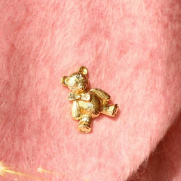 Wholesale Collar Bear - Fashion Cute Little Animals Bear Brooch Corsage Brooches Golded Collar Women Party Chic Brooch Wholesale 12Pcs Jewelry Brooches