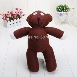Wholesale Doll Beans - 1piece 13'' 35cm Mr Bean Teddy Bear Animal Stuffed Plush Toy Brown Figure Doll Children Free shipping Retail