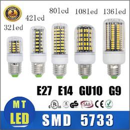 Wholesale E27 Cree Led 25w - X5 Free ship 5733 SMD 7W 12W 18W 22W 25W 35W led corn Bulbs E27 E14 GU10 G9 Led Lights Ultra Bright LED Lighting Warm Cool White AC 85-265V