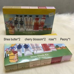 3set Famous Brand mains crème mains douces kit soin des mains Beurre + fleur de cerisier + pivoine + rose 1set = 6pcs 30ml / pcs mini lotions pour les mains ? partir de fabricateur