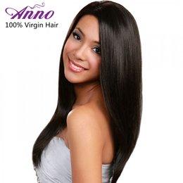Wholesale Bresilien Hair - Alimice Anno Hair Malaysian Virgin Straight Hair 8A Grade Malaysian Straight Hair Bundles 4Pcs lot Cheveux Bresilien Hair