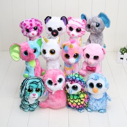 Wholesale Cheap Stuffed Animals Wholesale - Wholesale-Cheap Wholesale 15pcs Good Quality 17cm Ty Beanie Boos Big Eyes Husky Dog Plush Toy Animal Cute Stuffed Doll