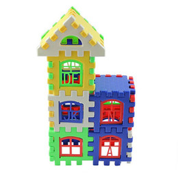 Wholesale Diy Blocks House - Kid Children Letter House Building Blocks Toy DIY Craft Gift 24Pieces Creative Free Shipping