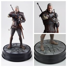 Wholesale Big Horse Toys - 10inch No Box The Witcher 3 - Wild Hunt: Geralt Figure Dark Horse Deluxe The Witcher PVC Game Figure Collection Model Toy Doll Brinquedos