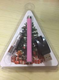 Wholesale G7 Batteries - Christmas Promotion G7 cartridge BUD botton batteries blister kit vape vaporizer pen 0.5ml thick hash oil atomizer with charger Xmas gift