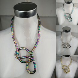 Wholesale Bendy Necklace Wholesale - Wholesale-Thickness Length Flexible Snake Necklace Belt DIY Bendy Hot Twist Jewelry 8mm 90cm Flexible Bendy Snake Bendable Necklace Chain