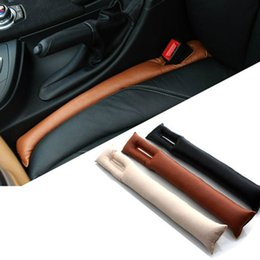 Wholesale Car Seats Leather Cleaning - Faux Leather Car Seat Gap Pad Fillers Holster Spacer Filler Padding Protective Case Auto Cleaner Slot Plug Stopper