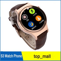 Wholesale Wholesale Sun Screen - Smart Watch Original NO.1 SUN S2 Round screen Multifunctional WristWatch For Samsung HTC iphone IOS Android Phone 010058