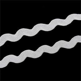 "Wholesale Ric Rac - 2015 new White Terylene Ribbon Ric Rac Trim 8mm(3 8""),20 M"