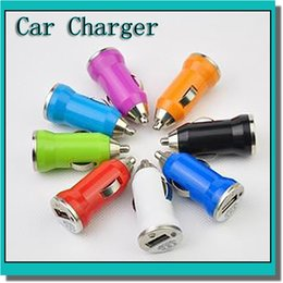 Wholesale Mini Volt Battery - Colorful Mini USB Car Charger Adapter Universal for iPhone ipod PDH cell phone MP3 mp4 and electronic cigarette Ego battery