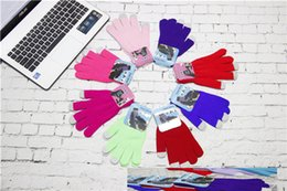 Wholesale Black Gloves For Kids - Gloves Fingerless Gloves Cycling Gloves Boxing Gloves Fashion Touch Screen Winter Magic Unisex Kids Lady Mens Gloves For Iphone Ipad Samsung