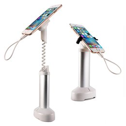 Wholesale Cell Phone Holder Alarm - 10xMobile phone security stand cell phone display holder iphone burglar alarm system anti theft for retail shop with clamp