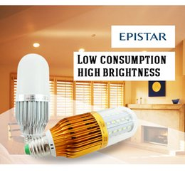 Wholesale Corn Cover 8w - 2016 hottest e27 b22 led corn light transparent cover+gloden base ac110-240V energy saving bulbs 8w 12w 15w