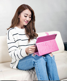 Wholesale Character Kitty - New Arrival Fashion Stand Folding Folio Cute HELLO KITTY Style Printed Leather Cover for iPad 1 2 3 mini air1 2