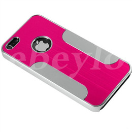 Wholesale iphone 4s aluminum cases - For iphone 4 4S Luxury Brushed Metal Aluminum Alloy Chrome Hard Back Case Cover for iphone4
