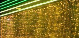 Wholesale 1m Purple Fairy Lights - 2015 10M X 1M 448led curtain Lights Wedding Background Light Curtain Lamps Fairy Christmas Lights Festival Led Garden