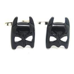 Wholesale High Quality Batman Mask - Explosion models cufflinks wholesale black Epoxy new Batman Mask cufflinks Fun for Men High Quality Alloy and Copper More Discount 550166