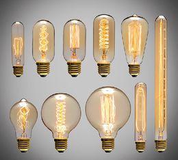 Wholesale Edison Style - 60W Filament Light classical Bulbs Vintage bulb Retro Industrial Style edison Lamp E27 Antique bulbs Fashion Incandescent lamps 110V 220V
