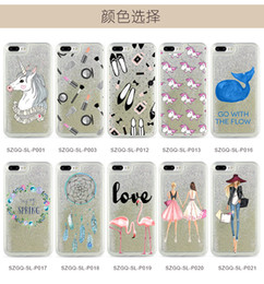 Wholesale transparent phone cases for sale - hot sale 7plus luxury pearl mobile phone shell 6s silver liquid quicksand soft shell multicolor optional