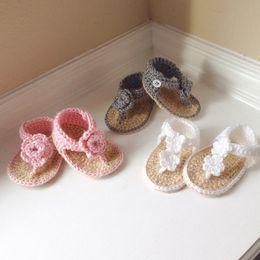 2015 nouveau-né bébé sandale au crochet, crochet bébé chaussures sandales fille au crochet 0-12M personnalisé ? partir de fabricateur