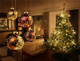 Wholesale Indoor Vinyl Backdrop Computer - Computer Printed Photography Backdrops Xmas Vinyl Fabric Indoor House Sparkling Christmas Tree Balls Winter Holiday Photo Studio Background