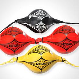 Yeni Çift Sonu MMA Boks Eğitim PU Deri Boks Torbası Hız Topu Boks Boks Topları ile Elastik cheap mma punch bags nereden mma punch bags tedarikçiler