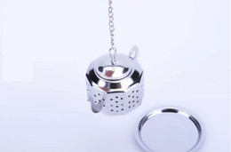 Wholesale Teapot Shape Infuser - 304 Stainless Steel Silvery Teapot Shape Tea Infuser Strainer tool wholesales