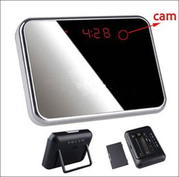 Wholesale Dvr Web - Free shipping V7 Digital Alarm Clock spy Mini DV DVR Camcorder HD 1280*960P Video recorder spy Camera Hidden Web Camera motion detection