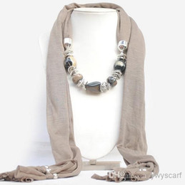 Wholesale Accessories For Pendant Scarves - 2015 Fashion Pendant Scar For Women Bohemia Pattern New Style Accessories Scarves Alloy Stone Charm Scarf