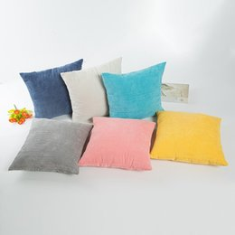 Wholesale Corn Cover - Modern Square Pillow Case Corn Kernels Design Cushion Cover Comfortable Solid Color No Core Pillowcase High Quality 6xa B
