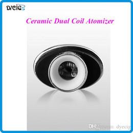 Wholesale Elips Clearomizer - Ceramic wax double coil atomizer dual heating coil clearomizer ceramic coil for micro gpen Elips cloud pen ceramic double coil atomizer---13