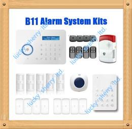 Wholesale Security Door Card System - Chuango B11 Wireless Touch Keypad GSM Phone SMS SIM CARD   PSTN Home Security Burglar Alarm System KP700
