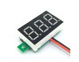 Wholesale Led Digital Voltage Panel Meter - 1pcs Red DC 0.1-30V LED Panel Voltage Meter 3-Digital Display Voltmeter Portable Voltmeter