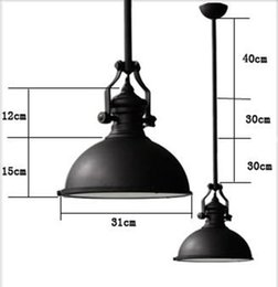 Wholesale Chandelier Warehouse - Wholesale-Nytex loft american vintage Chandeliers heavy metal black pendant lamps lighting Home Room Living Room warehouse,stock lighting