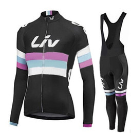Wholesale Womens Bicycle Jersey Set - 3 Styles Liv Team Women\'s Cycling Jerseys Set  Winter Thermal Fleece Bicycle Clothing Womens Bicycle Clothing Bike Clothes Bike Jersey.