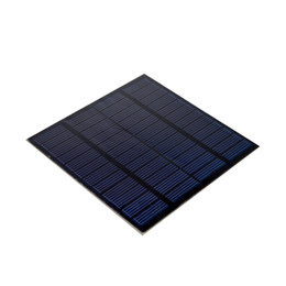 Wholesale Project Systems - 200pcs Lot DHL Shipping 1.5W 12V Polycrystalline Solar Cell Panel PET Encapsulated Solar Panel for DIY Project and Solar System