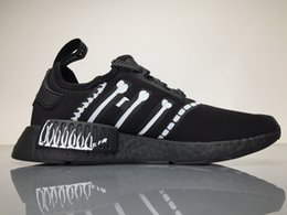 Wholesale Wholesalers Women Flat Shoes - 2017 3M MMJ X NMD Real Boost BA7255 Running Shoes Men Women NMDS Sport Sneakers Black Bone Cosignatories with Original Box Boosts