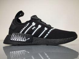 Wholesale Wholesale Women Flats - 2017 3M MMJ X NMD Real Boost BA7255 Running Shoes Men Women NMDS Sport Sneakers Black Bone Cosignatories with Original Box Boosts