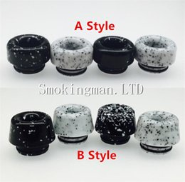 Wholesale Mouthpiece Black - TFV8 drip tip 810 resin imitation marble mushroom head black & white color 2017 latest vape mouthpieces for tfv12 e cigs