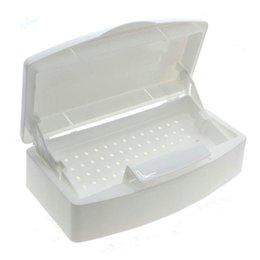 Wholesale Salon Manicure Tool Box - Wholesale-Nail Art Salon Sterilizer Tray Box Clean Nail Portable Sterilizing Tool Beauty Manicure