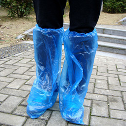 Wholesale Shoe Covers For Cycles - Elastic Disposable Plastic Protective Shoe Covers for Rafting Cycling shoe covers