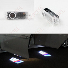 Wholesale Bmw Led Projector - Interior Lights LED door Decoration courtesy laser projector Logo Ghost Shadow lamps For BMW M3 M Power M-Sport M-TECH