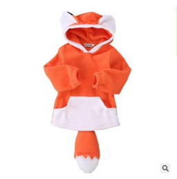 Wholesale Cartoon Characters Sweaters - Boys Girls Coat Hoodie Kids Sweater Fox Jacke Pullover Outwear Cartoon Hoodie Warm Fox Jacket Christmas Gift Kids Clothing Free Shipping