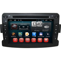 Wholesale Dvd Din Renault - Special In Dash DVD Players Built-in GPS Android 4.4 Car DVD Players Fit for Renault Duster Logan Sandero 7 Inch Screen 7050A